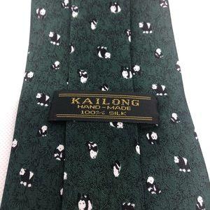 Kai Long Accessories - Kai Long Panda Silk Tie